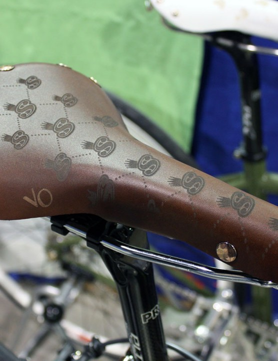 The leather saddle gets the same treatment