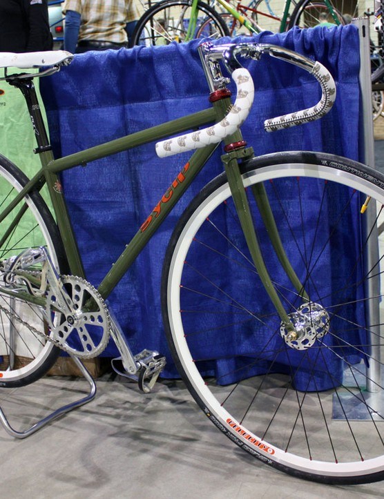 SyCip also showed off this gorgeous green and white fixie