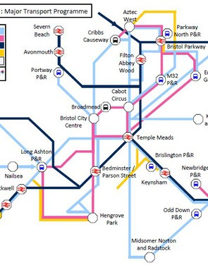 Map showing proposed new bus routes