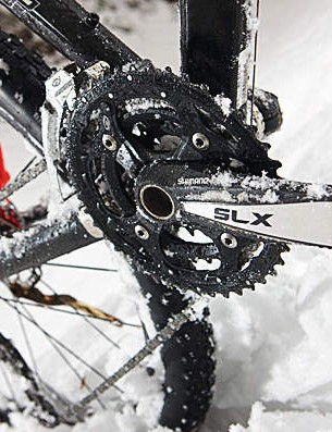 The SLX groupset is dependable and cohesive