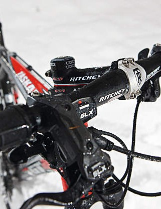 The narrow Ritchey bar  may be a little twitchy for some