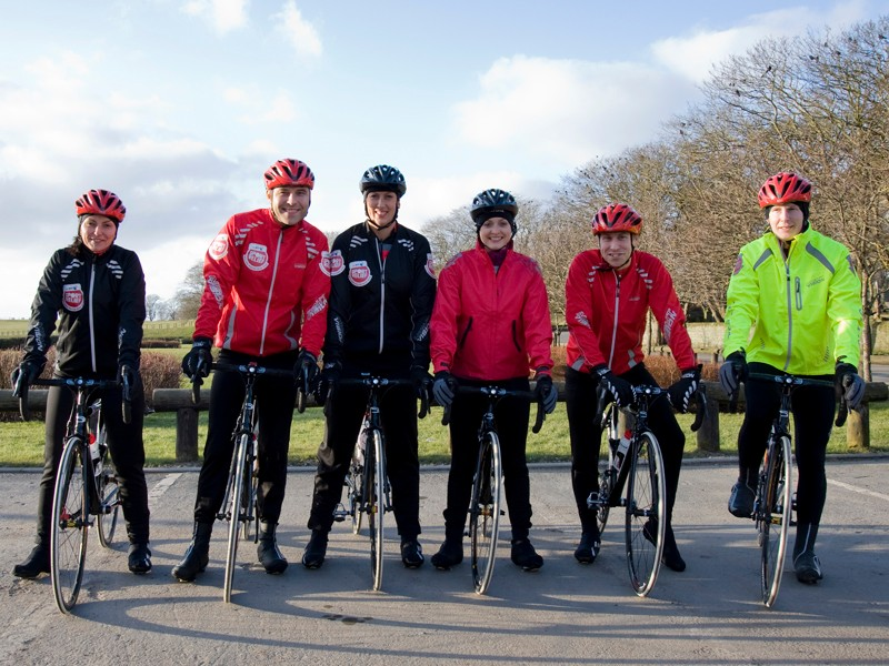 The BT Sport Relief Million Pound Bike Ride team set off from John O'Groats today