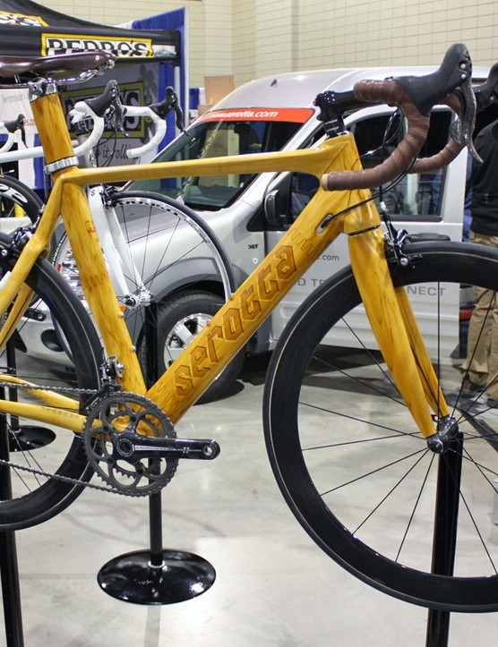 Serotta's custom painted Meivici AE was one of the highlights of the booth