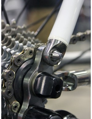 This joint isn't just a way to accommodate various stay angles during the build process but is actually a pivot and supposedly contributes to the unique ride quality