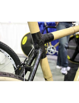 The rear brake cable is fed into the top tube then exits straight out the rear for a perfectly direct line