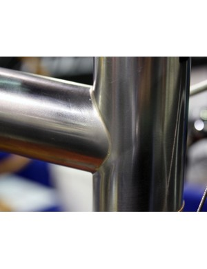 Sylvan's custom stainless steel lugs are brazed from the inside out, leaving a smaller external fillet