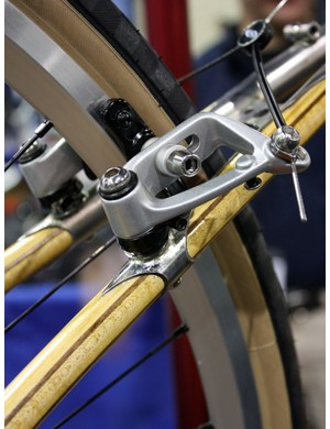Brake bosses are bonded and bolted in place