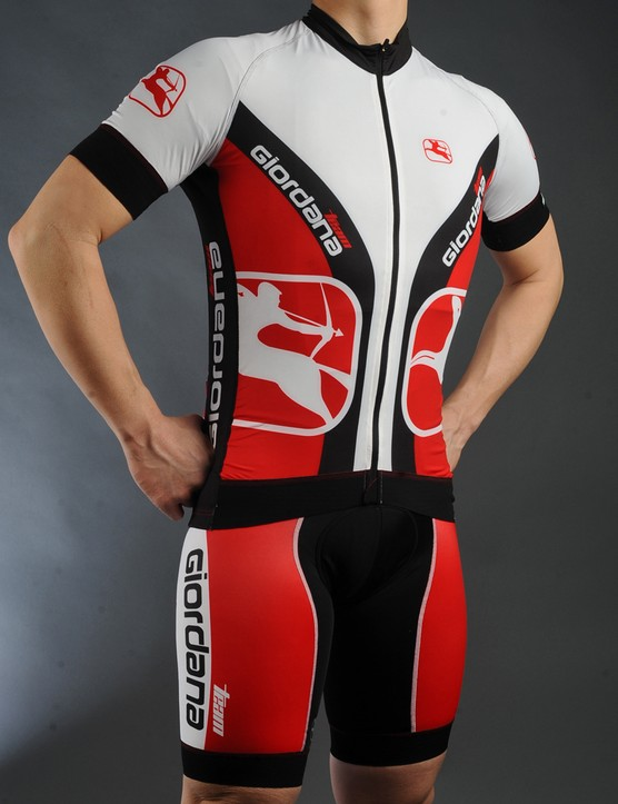 Giordana's FR-C Trade jersey and bib shorts offers a skintight fit and a bevy of advanced fabrics