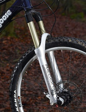 We love the RockShox Recon fork's Maxle Lite through-axle. We don't love its extra stiff, non-adjustable coil spring