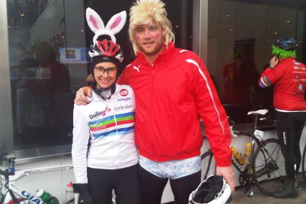 Andrea 'Freda' Flintoff and a bunny girl