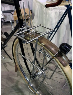 The front rack on this Banjo Cycles tourer is set to hold a big rack-top bag as well as lowrider panniers