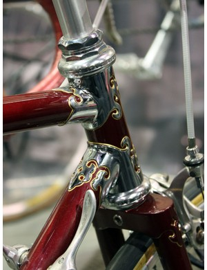 Awesome chrome and pinstriping work on this Bilenky Cycle Works road bike