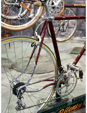 The curved stays on this Bilenky Cycle Works bike are reminiscent of an old Hetchins machine