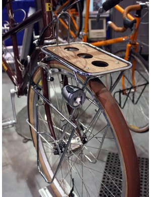 Bilenky fit the dynamo-powered front light directly to the rack on this tandem tourer