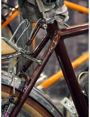 Just a hint of extra detail on the seatstay caps of this Bilenky tandem tourer