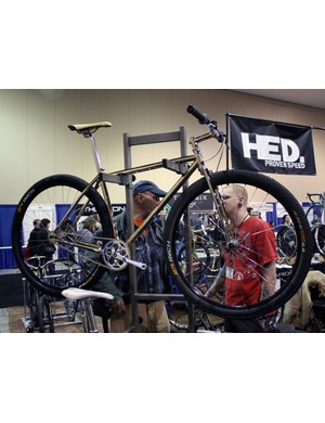 Peacock Groove did a full copper plated bike for NAHBS 2009 and builder Erik Noren outdid himself this year with gold