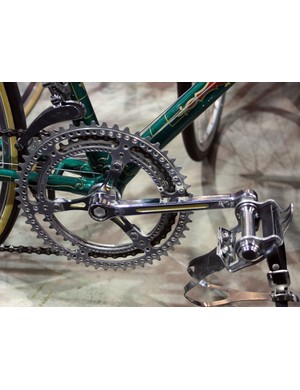 The three-armed Campagnolo crank on this Spectrum-restored Hetchins wasn't the only one at NAHBS
