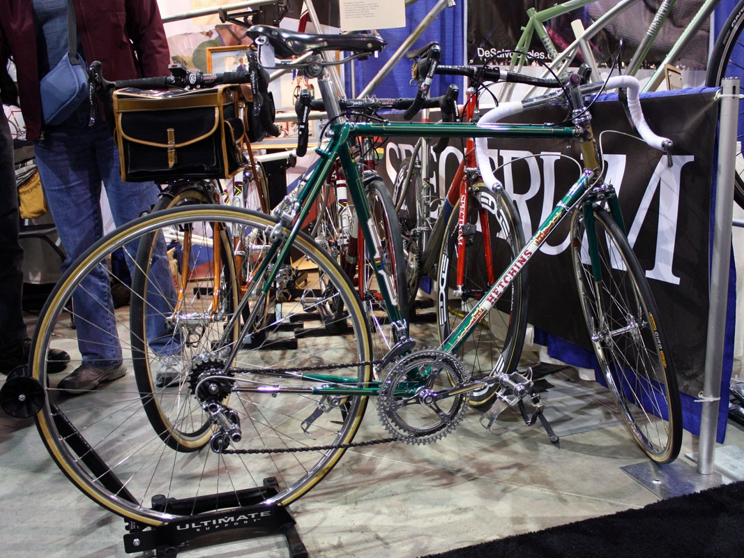 Tom Kellogg of Spectrum Cycles says this Hetchins restoration took five months from start to finish