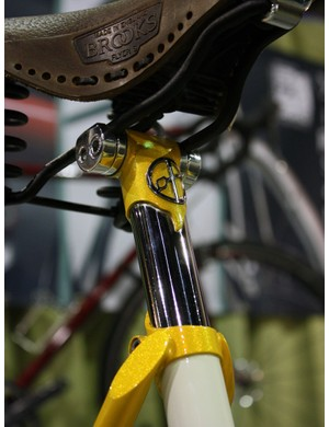 Yipsan used custom seatposts like this on at least two bikes in their booth