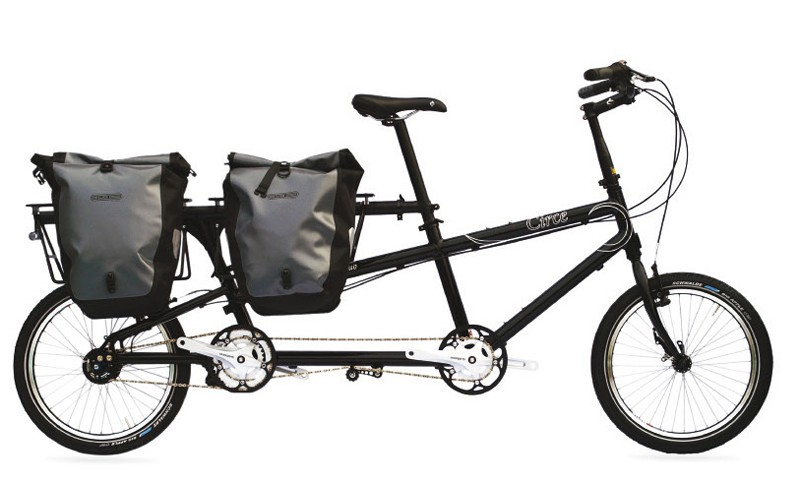 Circe Cycles' Helios tandem in cargo bike mode