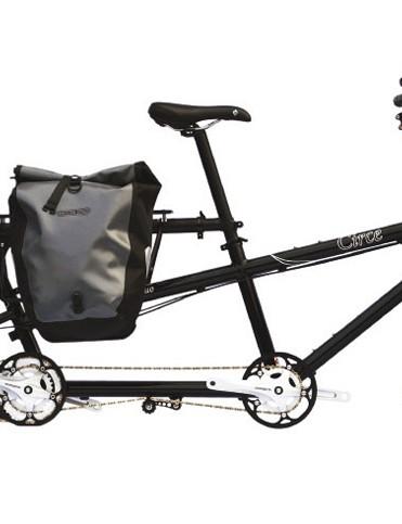 Circe Cycles' Helios tandem in cargo bike mode