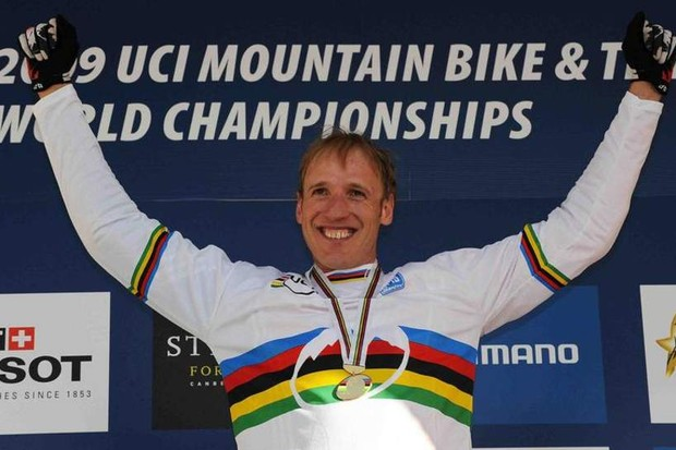 Steve Peat won the downhill world championships in 2009 for the first time in his career