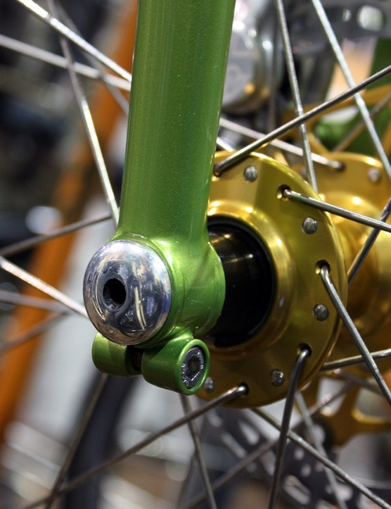 Capricorn Bicycles saw fit to use a thru-axle on its rigid steel fork.
