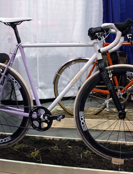 Cicli Polito won a NAHBS award last year for its faithful grass track racer and did a complete turnaround this year with this thoroughly modern 'cross bike.  Nicely done.