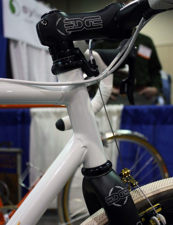 Cicli Polito blends fillet brazing and lug work for the front end of this 'cross bike.