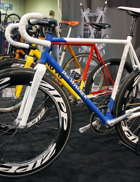 NAHBS organizer Don Walker built this track bike for his newest employee, former Olympian Erin Hartwell.