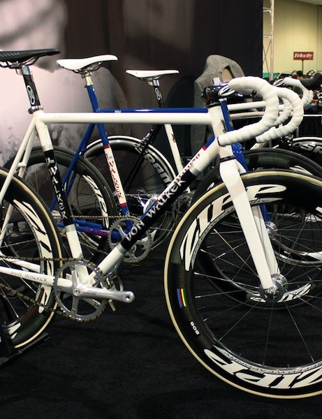 This Don Walker track bike will be ridden by pro racer David Wiswell this season.