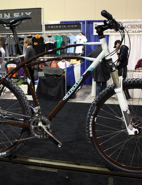 Retrotec builder Curtis Inglis brought along this classically-style hardtail.