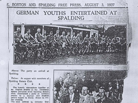 Hitler Youth members on a cycling tour were welcomed at Spalding Rotary Club