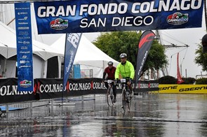 It was extremely wet but that didn't stop the 2nd Colnago Gran Fondo San Diego from going ahead
