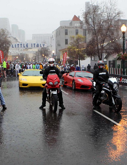Three Ferraris to lead out
