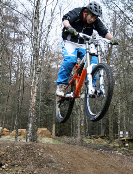 Test rider boosts the Rose downhill bike
