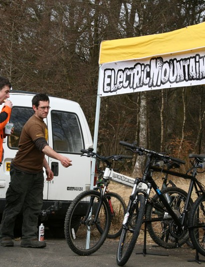 Electric bikes stand
