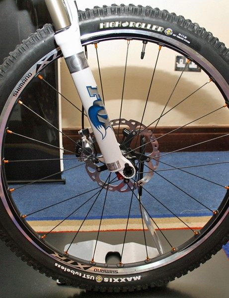 Shimano XTR M980 brake prototype and Ice Tech rotor