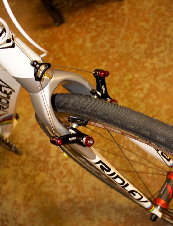 Stybar raced worlds on a prototype set of Avid Shorty Ultimate brakes