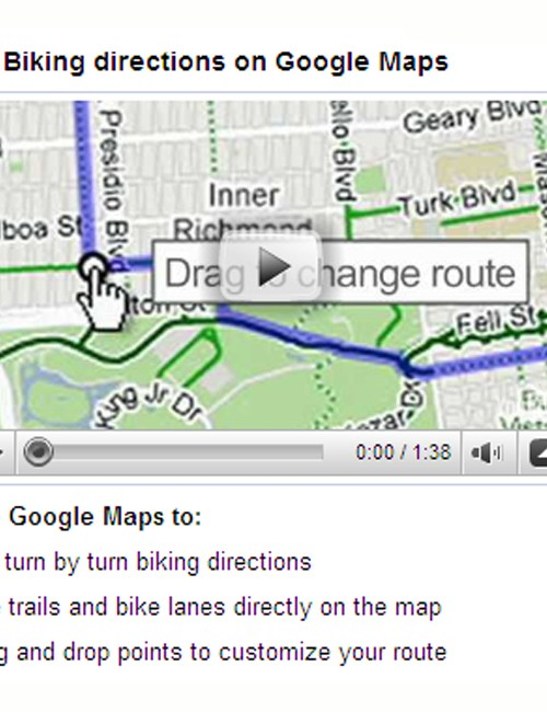 'Biking directions' have now been added to Google Maps in the US