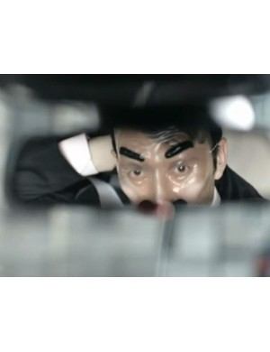 Scene from The Bank Job, a new cycle safety advert from Transport for London