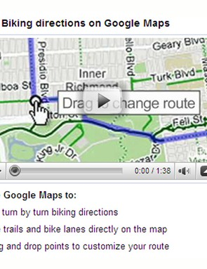 Google Maps by bike