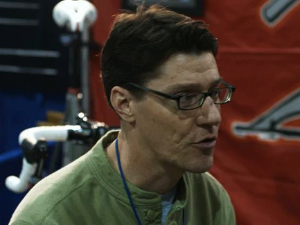 Carl Strong of Strong Frames is put on the spot at the North American Handmade Bicycle Show