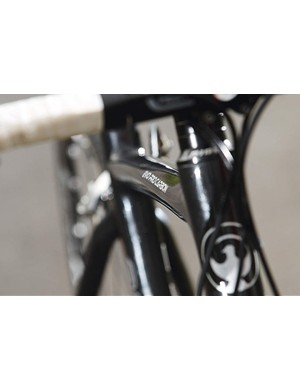 The carbon monocoque frame is a stealthy-looking piece of kit, with an incredibly low standover height