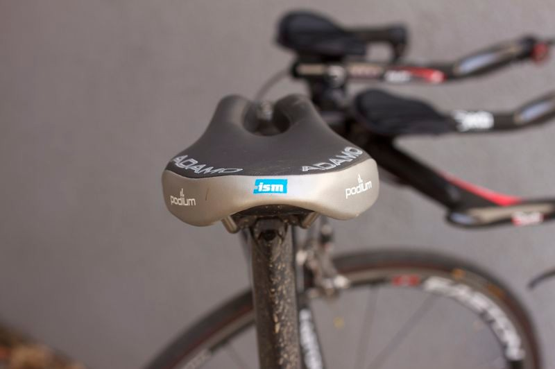The rear of the saddle is just meant to make it UCI compliant, only the front is meant for sitting.