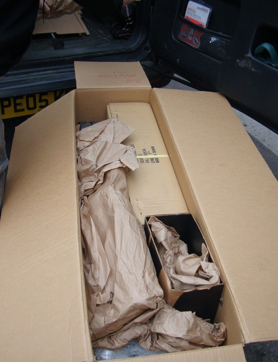 A load of parts in a box.