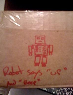Robot says...