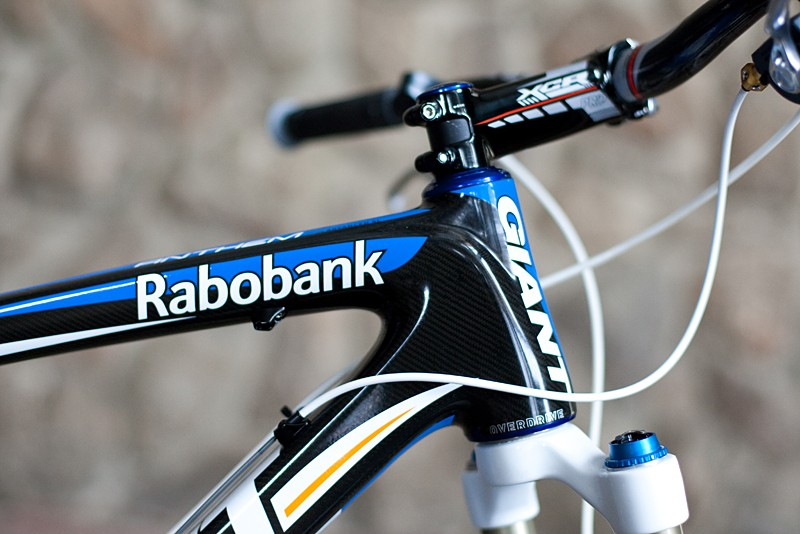 Craig's bike features the Rabobank-Giant colour scheme, which differs from the Giant Factory Team