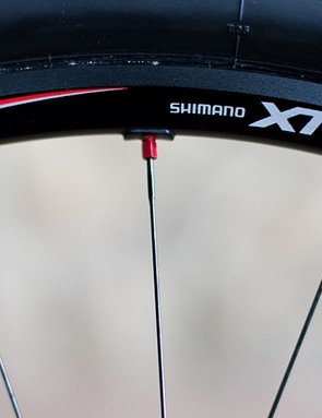 Shimano XTR wheels roll Craig along