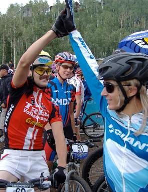 Schnell with Adam Craig in 2006.